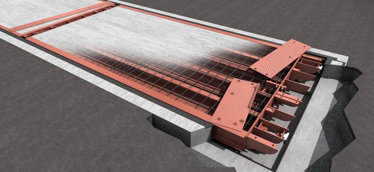 SBP-CO : Pesa a ponte modulare in cemento con ponte realizzato in opera