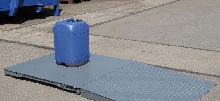 Piattaforma in acciaio verniciato e cella acciaio Inox PRM-CV