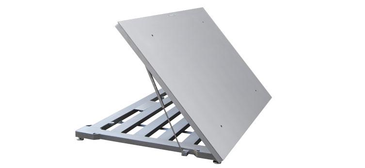 Piattaforma apribile in acciaio inox e cella inox PRM-A